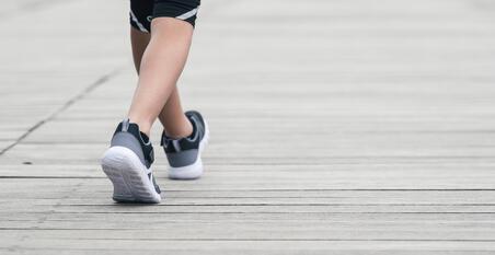 Дитячі кросівки Soft 140 для спортивної ходьби - Чорні