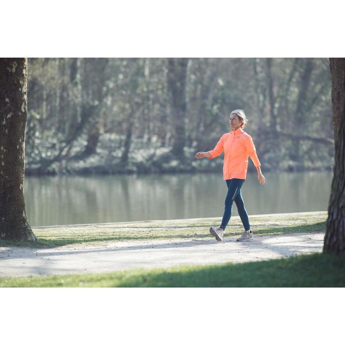 Damessneakers voor sportief wandelen HW 540 leer jeansblauw