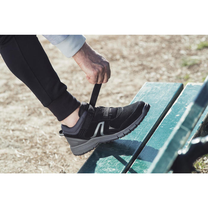 Chaussures marche sportive homme HW 140 Strap cuir noir - 1192479