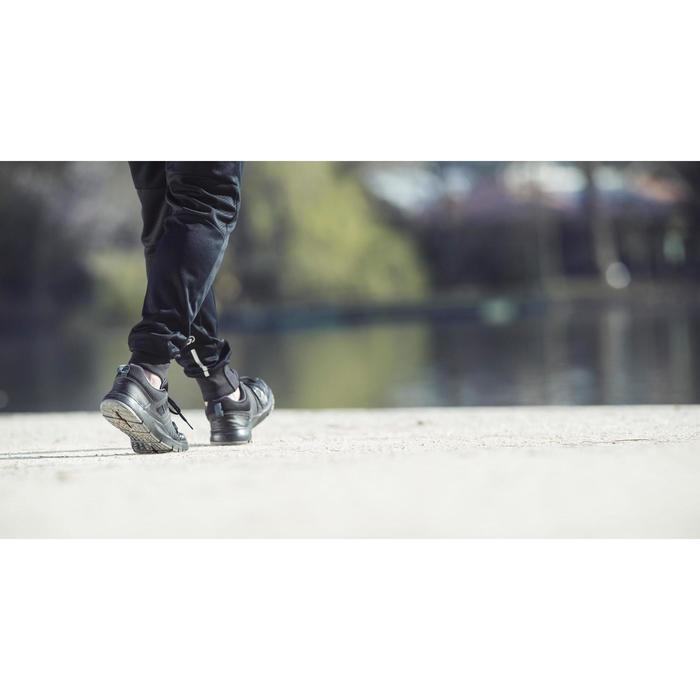 Herensneakers voor sportief wandelen HW 100 zwart