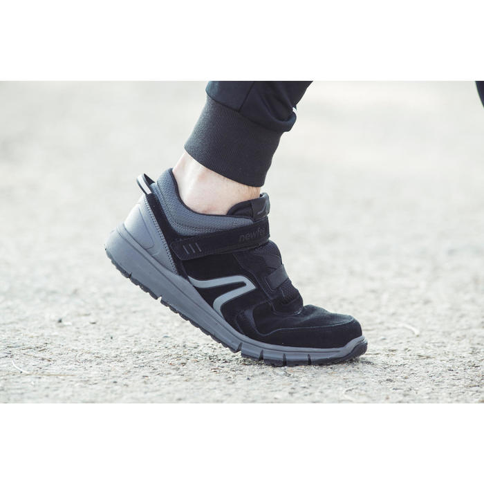 Chaussures marche sportive homme HW 140 Strap cuir noir - 1192487