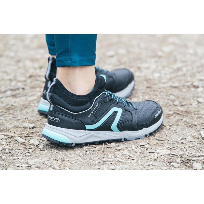 Chaussures marche nordique femme NW 580 Waterproof noir / bleu - 1192508