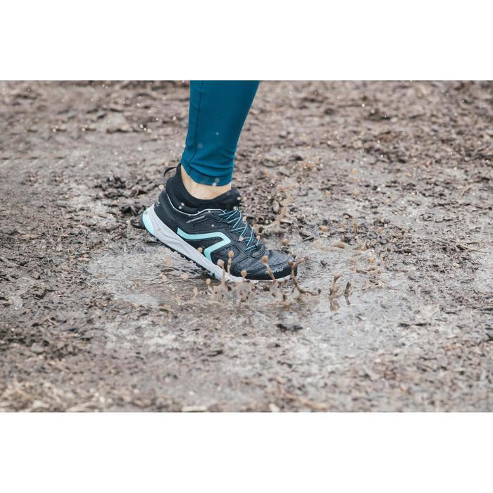 Chaussures marche nordique femme NW 580 Waterproof noir / bleu - 1192510