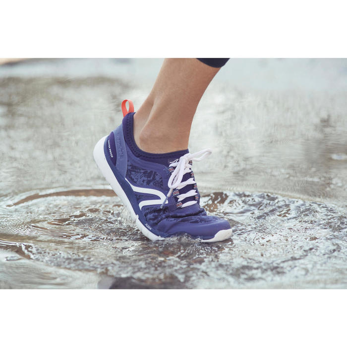Chaussures marche sportive femme PW 580 Waterproof navy - 1192561