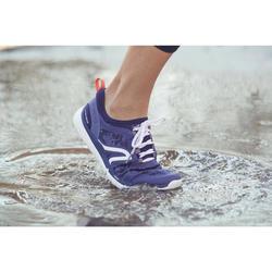 Zapatillas de Marcha Deportiva Newfeel PW580 impermeables mujer azul