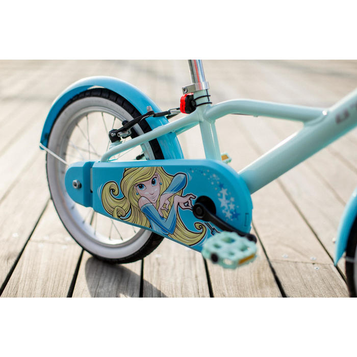 500 16-Inch Bike 4-6 Years - Blue Princess