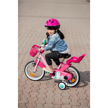 kinderfahrrad 14 zoll unicorn 500 rosa pink b 39 twin decathlon. Black Bedroom Furniture Sets. Home Design Ideas