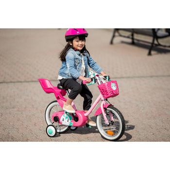 Puppen-Fahrradsitz Kinder rosa