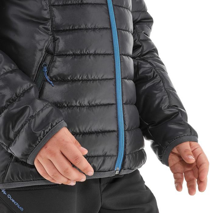 Gewatteerde wandeljas voor jongens MH500 zwart blauw