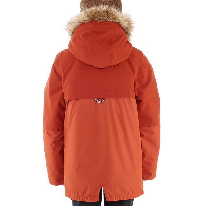 Warme en waterdichte wandeljas voor jongens XX Warm rood