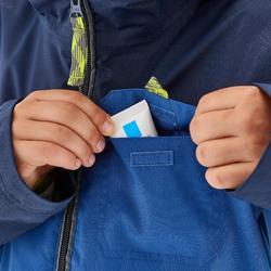 Hike 500 3-in-1 Boys' Warm Waterproof Hiking Jacket - Blue