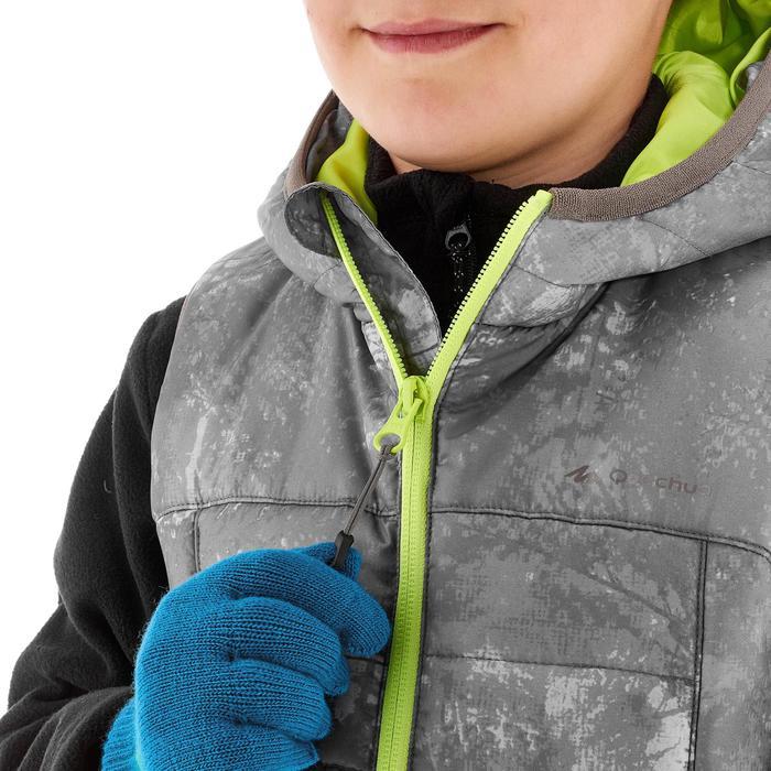 Gilet doudoune de randonnée Hike 500 garçon gris