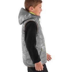 Chaleco acolchado de senderismo Hike 500 niño gris