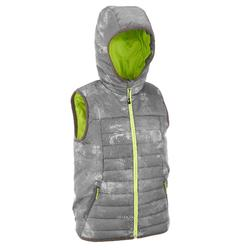 Boys' Hike 500 grey hiking padded gilet