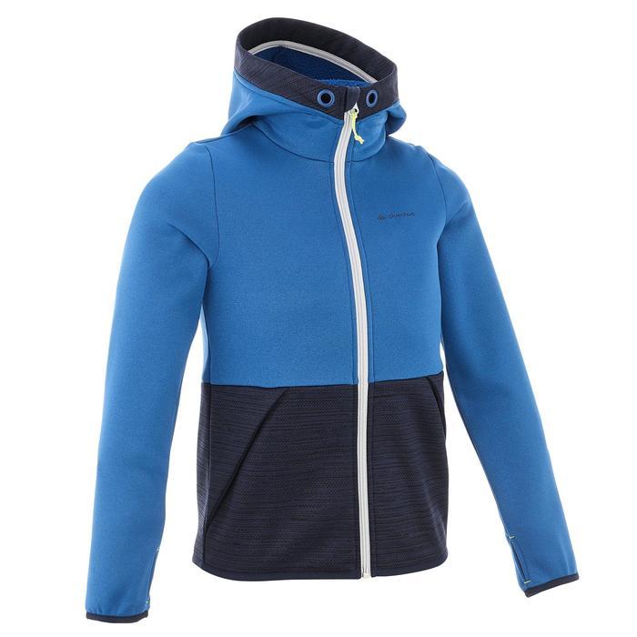 Fleecevest voor jongens Hike 550 blauw