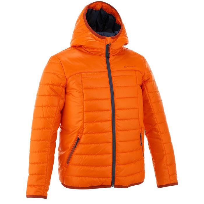 Chaqueta acolchada de senderismo Hike 500 niño naranja
