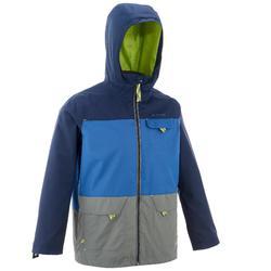 Hike 500 3合1 男童登山運動保暖防水夾克 - 藍色