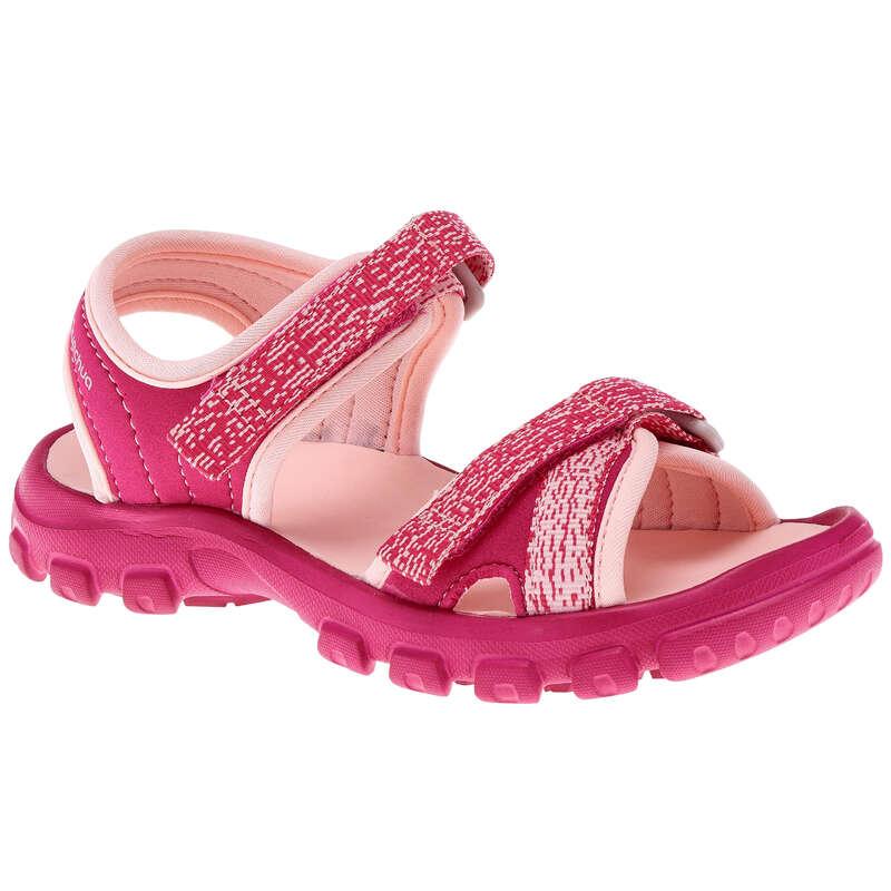 CHILDREN HIKING SANDALS Hiking - MH100 Kids Walking Sandals - Pink  QUECHUA - Outdoor Shoes
