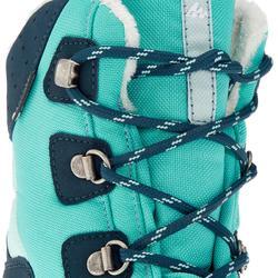 Chaussures de randonnée neige junior SH520 chaudes hautes vert d'eau