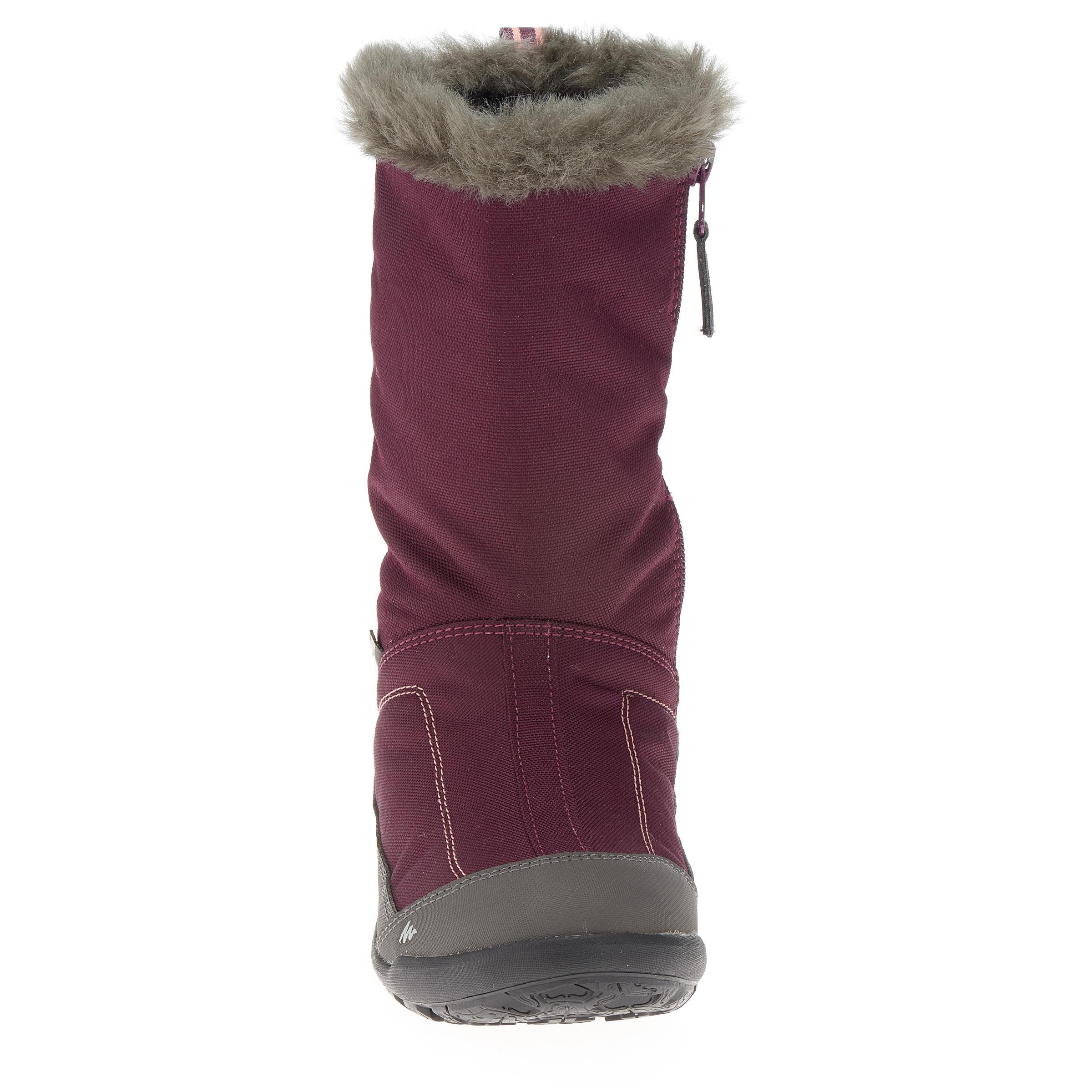 Bottes de randonnée neige junior SH500 chaudes Violet