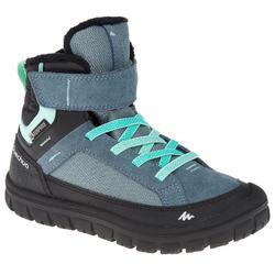 Kinder wandelschoenen voor de sneeuw SH500 Warm mid klittenband