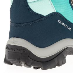 Chaussures de randonnée neige junior SH520 warm high vert d'eau