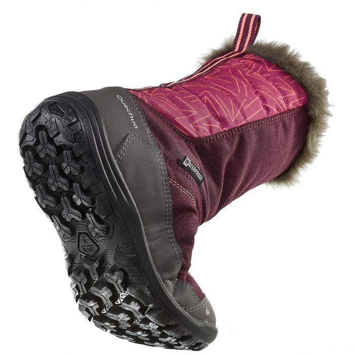 Kinder wandellaarzen voor de sneeuw SH500 warm paars