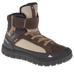 SH500 Warm Junior Rip-Tab Mid Snow Hiking Boots - Brown