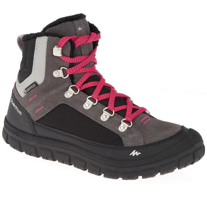 Chaussures de randonnée neige junior SH500 warm lacet mid - 1192992