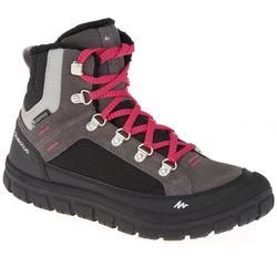 SH500 兒童保暖繫帶式防水雪地健行運動鞋 - 深色