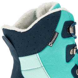 SH520 Junior Warm High Snow Hiking Boots - Aqua