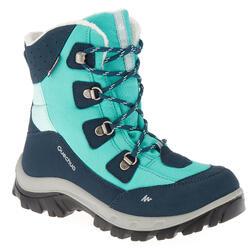 Winterstiefel Winterwandern SH520 Warm wasserdicht Kinder hellgrün