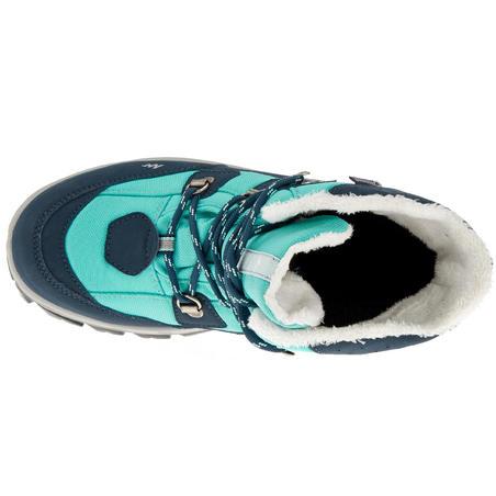 SH520 Junior Warm High Snow Hiking Boots - Aqua
