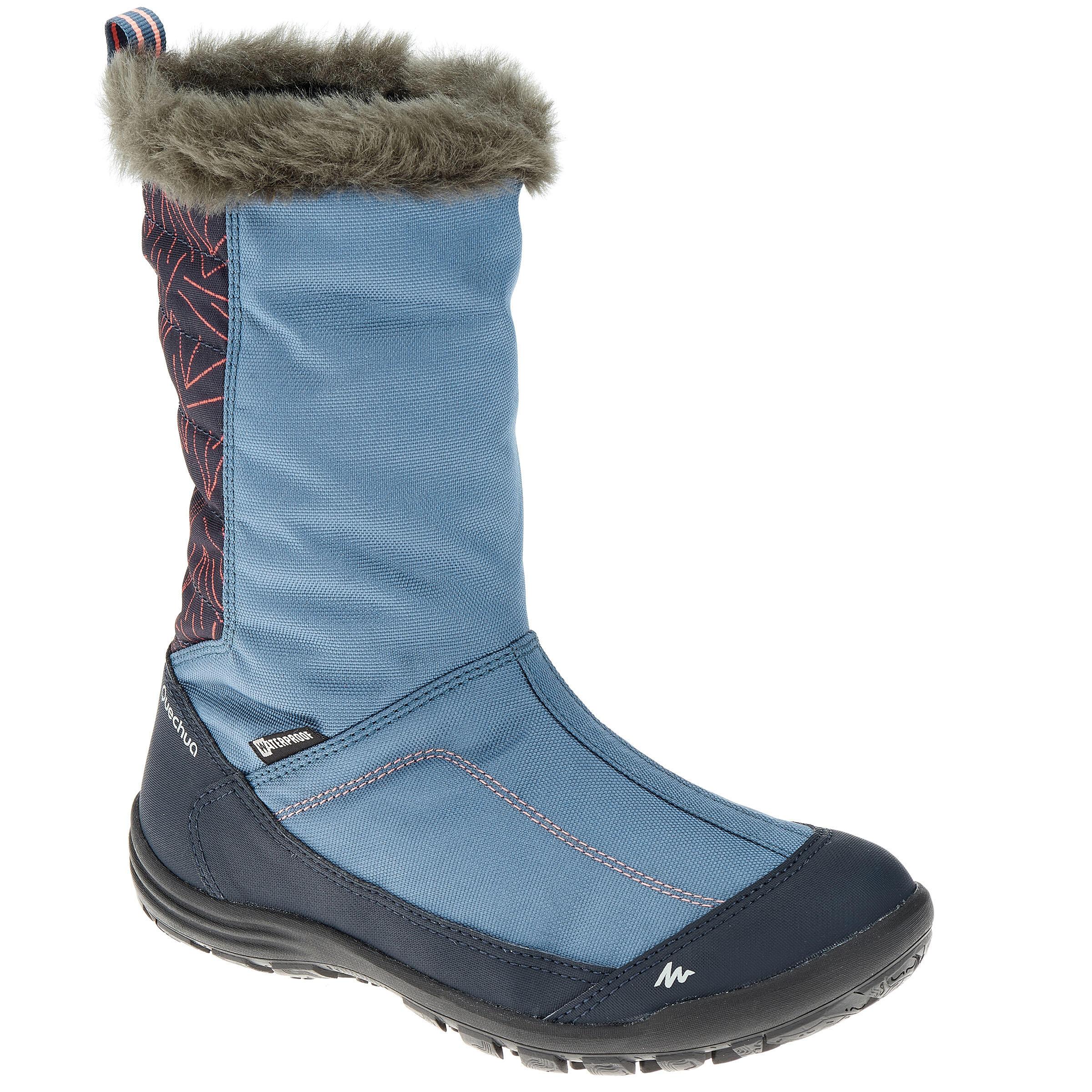 Quechua Kinder wandellaarzen voor de sneeuw SH500 warm