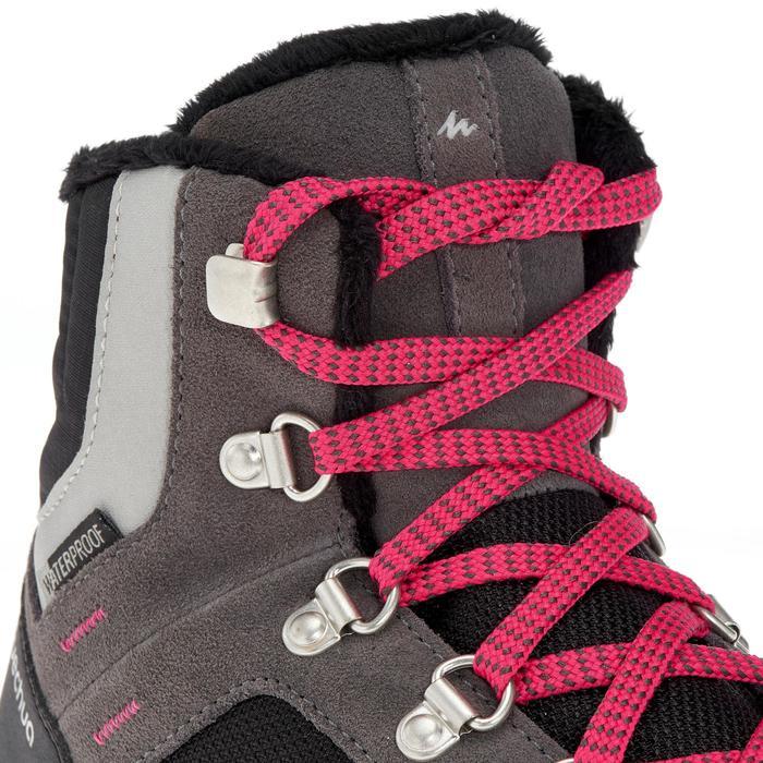 Chaussures de randonnée neige junior SH500 warm lacet mid grises