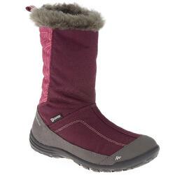 Wandellaarzen voor kinderen in sneeuw SH500 warm paars