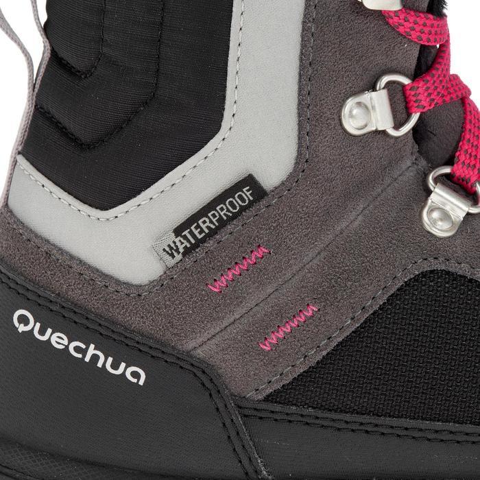 Chaussures de randonnée neige junior SH500 warm lacet mid - 1193031