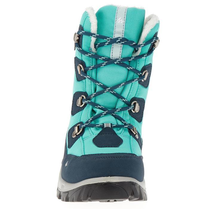 Botas de senderismo nieve júnior SH520 warm high verde agua