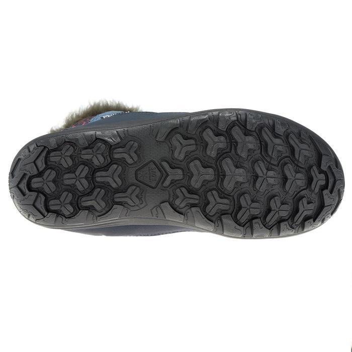 Kinder wandellaarzen voor de sneeuw SH500 warm blauw