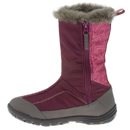 Junior Winter Hiking Boots SH500 Warm - Purple