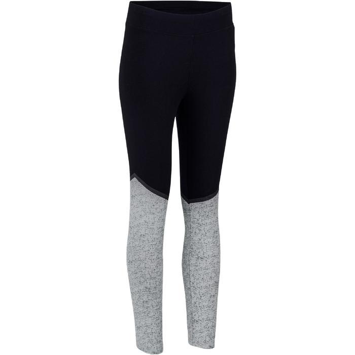 Legging 7/8 FIT+ 500 slim Gym & Pilates femme noir - 1193094