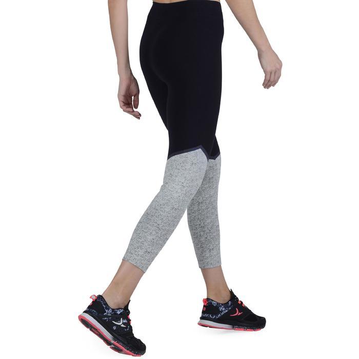 Legging 7/8 FIT+ 500 slim Gym & Pilates femme noir - 1193103