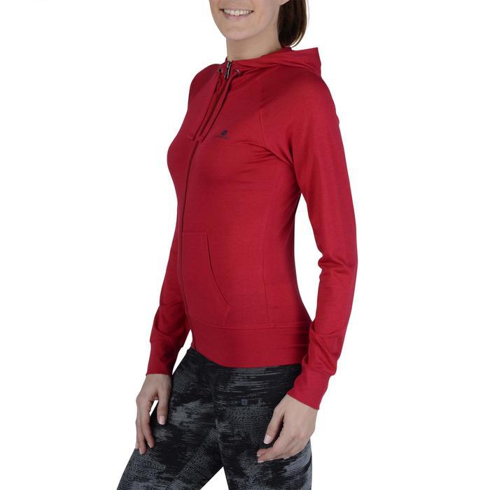 Veste capuche zippée Gym & Pilates femme - 1193147