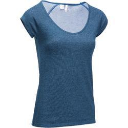 Dames T-shirt 500 voor gym en stretching