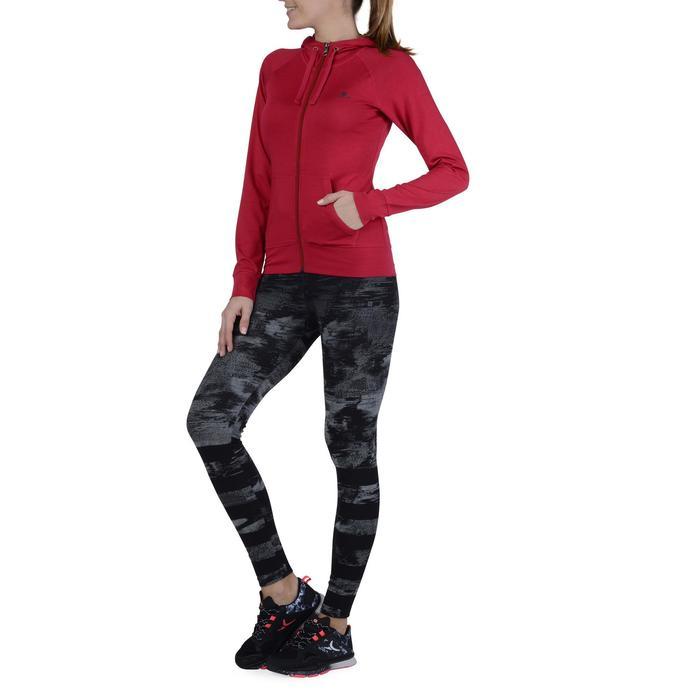 Veste capuche zippée Gym & Pilates femme - 1193185