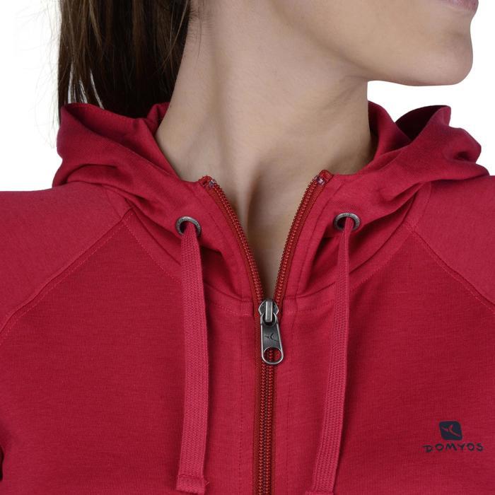 Veste capuche zippée Gym & Pilates femme - 1193218