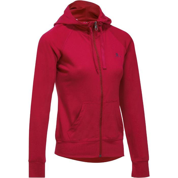 Veste capuche zippée Gym & Pilates femme - 1193231