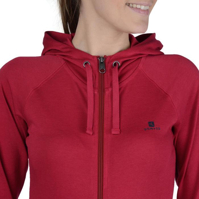Veste capuche zippée Gym & Pilates femme - 1193242