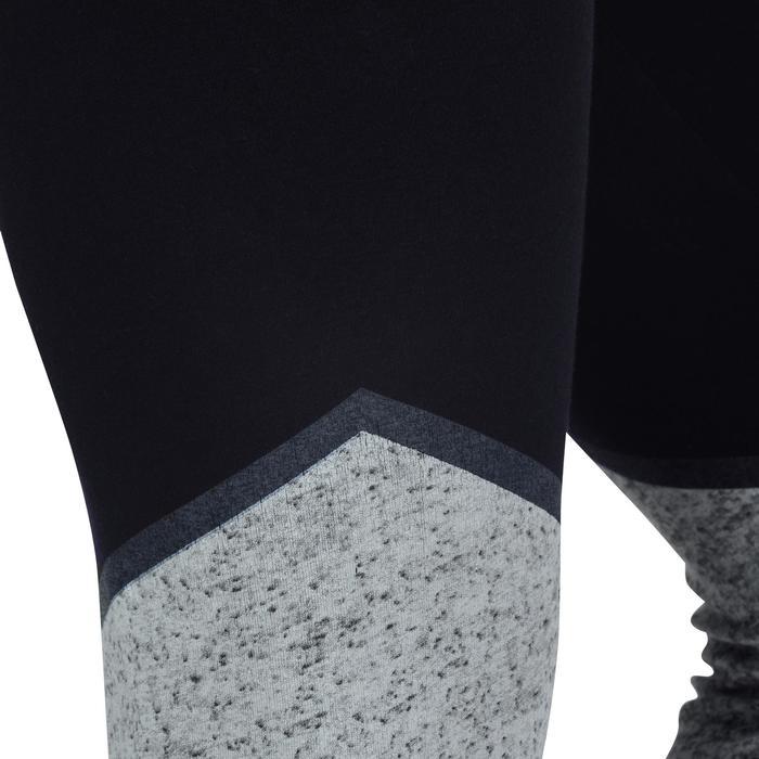 Legging 7/8 FIT+ 500 slim Gym & Pilates femme noir - 1193244