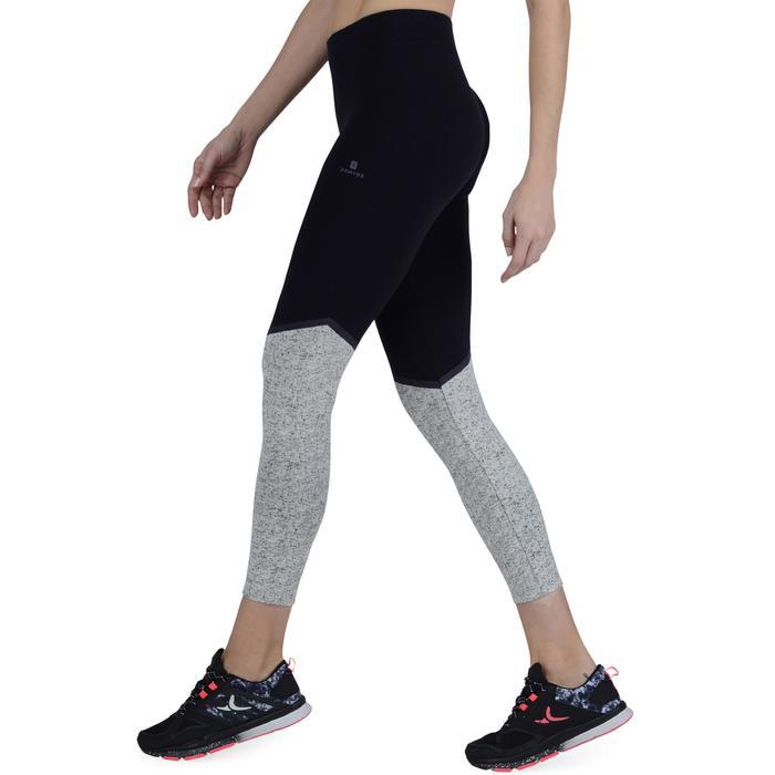 Legging 7/8 FIT+ 500 slim Gym & Pilates femme noir - 1193252